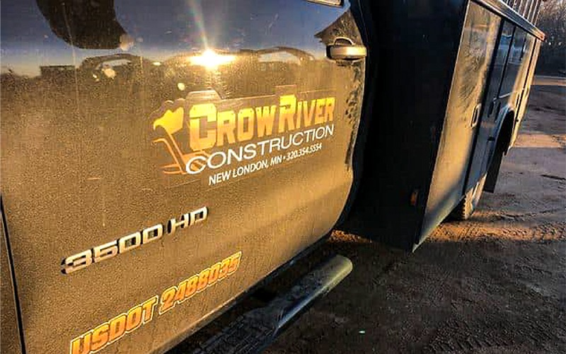 crow river construction truck